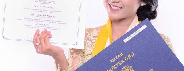Selamat, drg. Irenne Lulusan Terbaik dan Tercepat FKG UGM